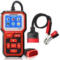 KONNWEI KW681 2 IN 1 6-12V Auto Tester per la batteria per auto OBD2 Auto Guasto Diagnosi Strumento Analizzatore della batteria Supporto 9 Lingue