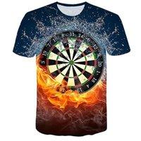 Men's T-shirts 2021 Creative Dart Target 3d Printed T-shirt Loose Large Short Sleeve T-shirt