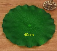 40 CM Artificial Green Lotus Leaf PE Foam Flower Lily Floating Pool Plant For Wedding Home Garden Decoration Supplies