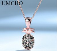 s925 silver necklace female fresh pineapple pendant cute rose gold fruit clavicle chain