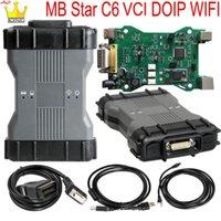 Звезда C6 Диагностика Инструмент Поддержка DIP / CAN С программным обеспечением HDD / SSD VCI WiFi Мультиплексор SD Подключите диагностические инструменты