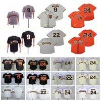 Retorired 9 Matt Williams Baseball Jersey 22 Will Clark 24 Willie Mays 1989 Vintage Retro Cooperstown Mesh genäht Pullover