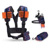 4PCS Adjustable Storage Bag Suit Set Clip Bullets for Nerf ELITE Magazine Tactical Equipment Boy Outdoor Toy Gun Pocket