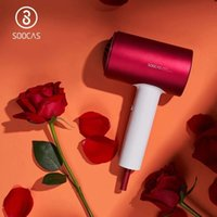 SOOCAS H5 Anion Hair Dryer Professional Quickly Dry Blower Dryer Electric Dryer Diffuser Aluminum Alloy Cold Hot Air Circulating - Red-CN Plug