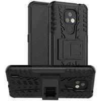 Pour pour Motorola Moto E7 Case de luxe PC + TPU Stand Stand Case Armure antichoc pour Moto E7 2020 E 7 Mote7 Cas de téléphone complet