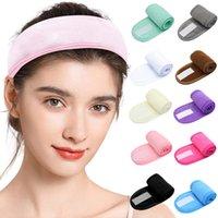 Sport Yoga Gesichtswaschen Doppelschicht Stirnband Schweißabsorption Anti-Schiebe-Laufband
