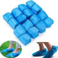 플라스틱 방수 일회용 구두 커버 비 데이 카펫 바닥 수호자 블루 청소 구두 커버 overshoes 집 100pcs / 가방