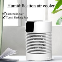 Electric Fans Leafless Water Cooling Fan Desktop Spray Refrigeration Air Conditioning Rotating Shaking Head Humidifying Conditioner