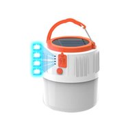 Solar LED Camping Light Outdoor Tent Lamp USB Rechargeable Bulb Portable Lanterns For Emergency Lights CRESTECH168