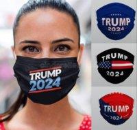 Trump 2024 Mascarilla lavable reutilizable reutilizable Tela no tejida a prueba de polvo Haze a prueba de niebla transpirable Máscaras al por mayor CT18