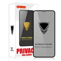3D Privacy Anti Spy Tempered Glass Screen Protectors 9H 0.3mm High Aluminum Anti-scratch Film For iPhone 12 mini 11 Pro Max XR XS 6 7 8 plus Samsung A12 A32 A42 A52 A72 5G