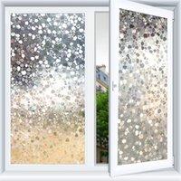نافذة فيلم 3D فيلم الزخرفية، الخصوصية للمكاتب المنزلية، ملصق مضاد للأشعة فوق البنفسجية، ملصقات ضوئية قابلة لإعادة الاستخدام