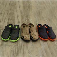 Тапочки Вьетнама на точке Тапочки Сандалии Двухменяемая обувь Мужская мода Открытый Внутренний двухцветный сетчатые туфли 1809