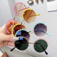 Spitze mädchen sonnenbrille party liefert runde rahmen kinder trendy kinder fotografie strand