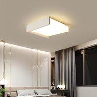 Nordique Noir / Blanc LED Plafonnier de LED pour restaurant Chambre à coucher Salle à manger Éclairage Lumières de lusure d'intérieur Appliquer à AC90-260V R242
