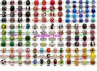 100 قطع مختلطة 925 sivler الأساسية مورانو الزجاج الخرز للمجوهرات جعل فضفاض lampwork سحر diy الخرز لسوار بالجملة بكميات كبيرة السعر