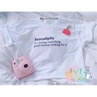 Okoufen Mode Unisexe Corée Style Kpop Serendipity Définition T-shirt Streetwear Créwneck chemise Tops Tops Tees Haute Qualité