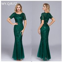 Bridesmaid Dress HJQ-121#Bridesmaid Dresses Long Trumpet Mermaid Champagne Wine Red Green Wedding Party Prom Wholesale Homecoming Girls