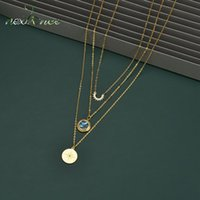 Nextvance Gold En Acier inoxydable Collier Sweet Shell Collier à trois couches Compas Pendentif pour femmes Anniversaire Bijoux Colliers cadeaux