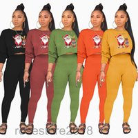 Women Tracksuits printed 2 Piece Outfits Designers Clothes 2021 fashion round neck long sleeve sweater Pocket pants Two Piece Set Jogging suit