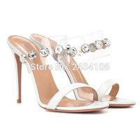 Shooegle Marque Sexy Summer Shoes Femmes Crystal Crystal Sandalias Tacon Ouvert Open Toe Diamant Sandals à talons en plein air Sandals