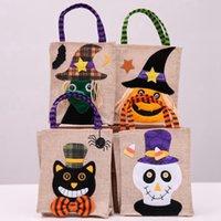 26 * 15см Хэллоуин льняная сумка сумка тыква конфеты хранения сумки праздничные принадлежности 4 стиля хэллоуин украшение сумки Cyz3265