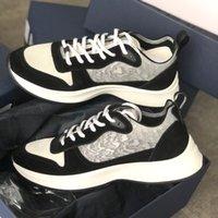 Erkekler B25 Eğik Sneaker Tasarımcı Ayakkabı Siyah Beyaz Hakiki Deri Platformu Erkekler Tasarımcı Ayakkabı Moda Runner Casual Espadrilles Kutusu Ile