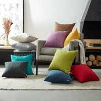 Topfinel Soft Chenille Pillow Cover Cushion Luxury Square Decorative Cases For Sofa Bed Car Home Throw Pillows Cushion Decorative