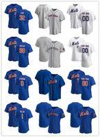 Jersey personalizado para mujer juventudNuevoYorkMets0 Marcus Stroman 1 Jonathan Villar 32 Aaron Loup 99 Taijuan Walker Jerseys de béisbol Blanco Azul Gris