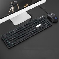 Gaming Keyboard Mouse Combos USB Wired Keybord Gamer Kit Waterproof LED Luminous Multi-Media Set For PC