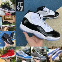 2021 Jubilee Pantone Bred High 11 11s Chaussures de basketball Légende Bleu 25ème Anniversaire Space Space Jam gama Blue Pâques Concord 45 basse Colombie Baskets rouges blanches F31