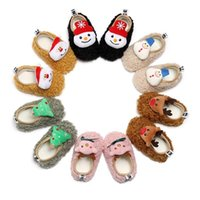 First Walkers Baby Boy Girl Cartoon Christmas Warm Cotton Shoes Children Plush Boots Infant Casual Toddler
