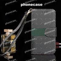 Caso de carteira de couro Caso iPhone Capas para iPhone Bolsa Bolsa Sublimação com Brand Lu para iPhone11 12 Pro promax Mini X / XS / XR 7 / 8Plus 6
