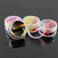 Color 10ML Acrylic Silicone Cigarette Ointment Box Cosmetic oil cream boxes Portable Pill Solid E-liquid case DWF6810