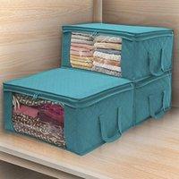 Aufbewahrungstaschen Vlies Kleidung Tasche Haushalt Faltende Quilt Organizer Staubsichere Finishing Box Schlafzimmer liefert
