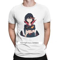 Ryuko Matoi Tee Shirts Mężczyźni La Kill Japoński Anime Fashion Pure Cotton Tees Crewneck Tshirt Ubrania