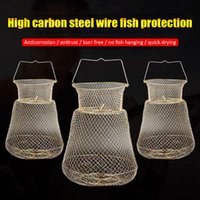 Fishing Accessories Metal Wire Cages Foldable Steel Net Fish Baskets For Outdoor Crab Tackle Protection Products