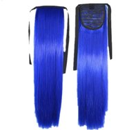 """103 Synthetic Ponytail Long Straight Hair 16"""" 22"""" Clip Ponytail Hair Extension Blonde Brown Ombre Hair Tail With Drawstring"""