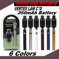 Vertex Law Battery 350mAh Preheating regulation voltage For 510 Thread Carts With USB charger Vape Pen Same day delivery