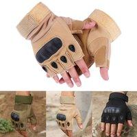 Nytt mode Unisex Kvinnor Mens Utomhus Militär Taktiska Fingerless Hard Knuckle Half Finger Handskar