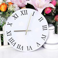 Wall Clocks Creative DIY Full Roman Numeral Clock Personality Fashion Watch Home Background Decoration