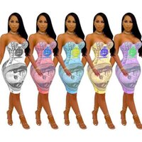 المرأة اللباس السراويل مثير عارضة الصيف حزب فساتين البوهيمي دولار طباعة أكمام الملابس نادي قطعة واحدة الأزياء بذلة تنورة G67A97Y
