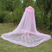 Crib Netting Useful Elegant Dome Baby For Summer Polyester Kid Mesh Fabric Lit Lace Kids Bed Canopy