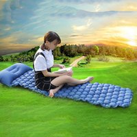 Outdoor Pads Sleeping Pad Compact Camping Backpacking Air Lightweight Inflatable Mat Ultralight Portable Picnic Moistureproof