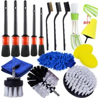 Car Washer Power Scrubber Drill Brush Detailing Set For Air Vents Rim Cleaning Auto Brushes Carpet Leather