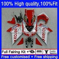 Bodywork Inyección para Ducati 1198R 848 1098 1198 S R R 2008 2009 2010 2011 2012 Body 14NO.86 848R 1098R 07-12 848S 1098S 1198S Red Xerox 07 08 09 10 11 12 Carretera OEM