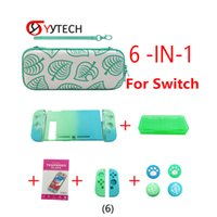 SYYTECH Protective Shell Cover Silicone Cases Storage Bags Tempered Glass Film Box Set for Switch Game Console NS Accessory