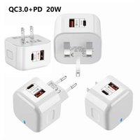 20W 벽 충전기 실제 CE 유형 C PD QC 3 아이폰 EU에 대 한 빠른 충전 QC 3.0 모든 전화 충전기 공장 품질에 대 한 USB 충전기