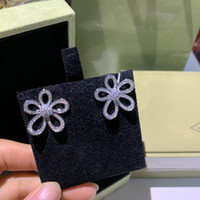 2021 new 925 sterling silver sunflower necklace feminine five-petal flowers full of color-fast collarbone earrings fashion necklace