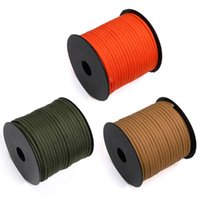 Outdoor Gadgets 50M Military 7-Core Paracord 550 Strands Rope 4mm Climbing Camping Bundle DIY Survival Lanyard Bracelet Tactical Belts